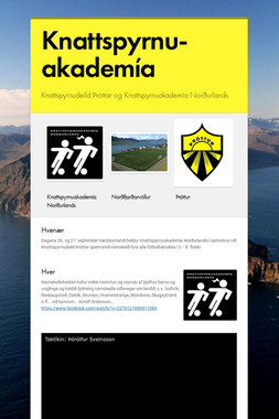 Knattspyrnu- akademía