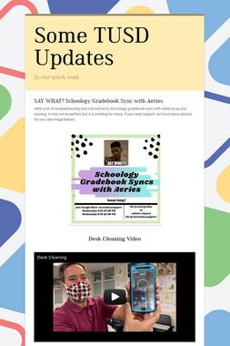 Some TUSD Updates