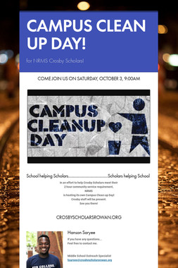 CAMPUS CLEAN UP DAY!