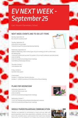 EV NEXT WEEK - September 25