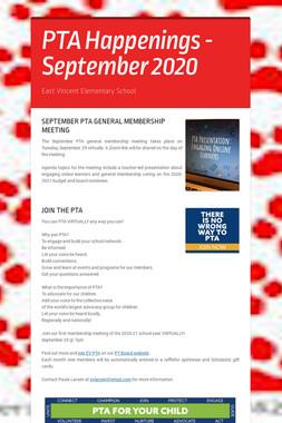 PTA Happenings - September 2020