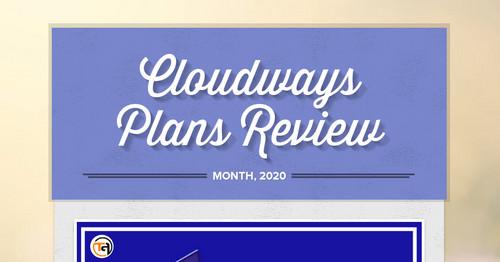 Cloudways Plans Review