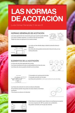 LAS NORMAS DE ACOTACIÓN