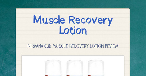 Muscle Recovery Lotion