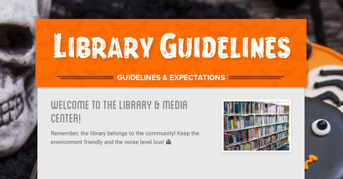 Library Guidelines   Smore Newsletters