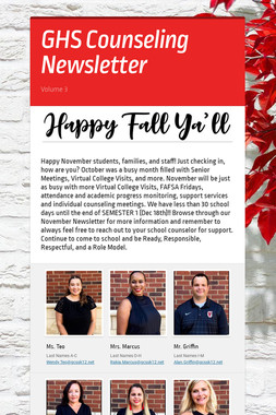 GHS Counseling Newsletter