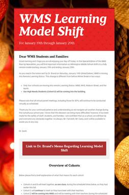 WMS Learning Model Shift