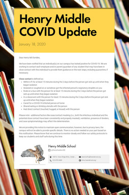 Henry Middle COVID Update