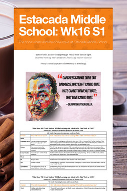 Estacada Middle School: Wk16 S1
