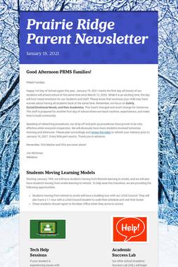 Prairie Ridge Parent Newsletter