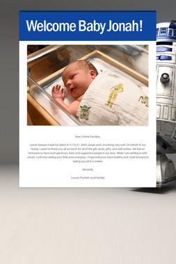 Welcome Baby Jonah!