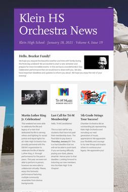 Klein HS Orchestra News