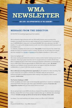 WMA Newsletter
