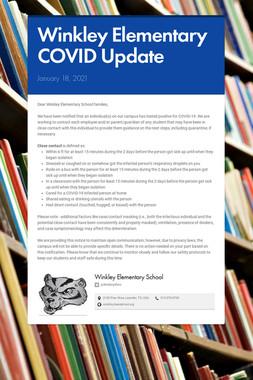Winkley Elementary COVID Update