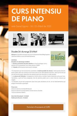 CURS INTENSIU DE PIANO