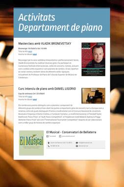 Activitats Departament de piano