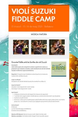 VIOLÍ SUZUKI FIDDLE CAMP
