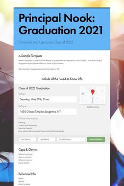 Principal Nook: Graduation 2021