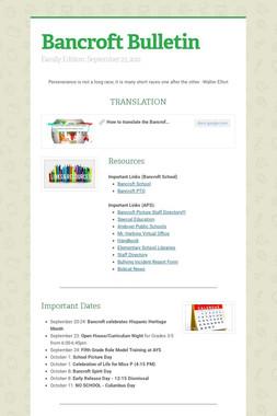 Bancroft Bulletin