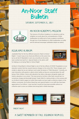 An-Noor Staff Bulletin
