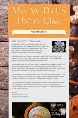 Mrs. W-D's US History Class