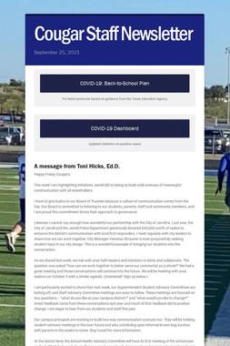 Cougar Staff Newsletter