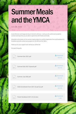 Summer Meals and the YMCA