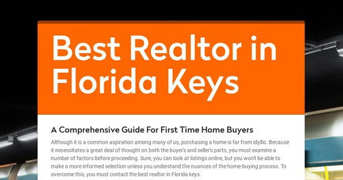 A Comprehensive Guide For First Time Home Buyers