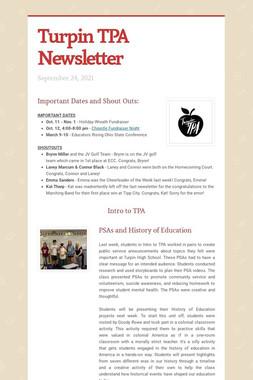 Turpin TPA Newsletter