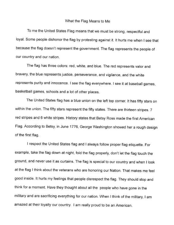 American Flag Essay About Flag Collections