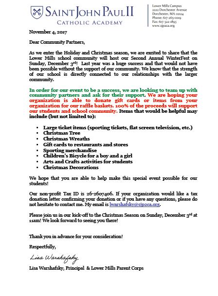 SJP2CA Lower Mills Family News | Smore Newsletters for Education