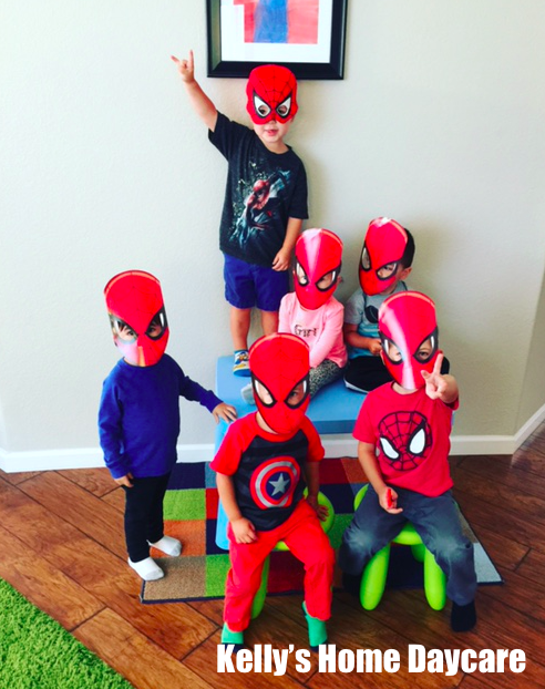In home daycare setup pictures of spider.
