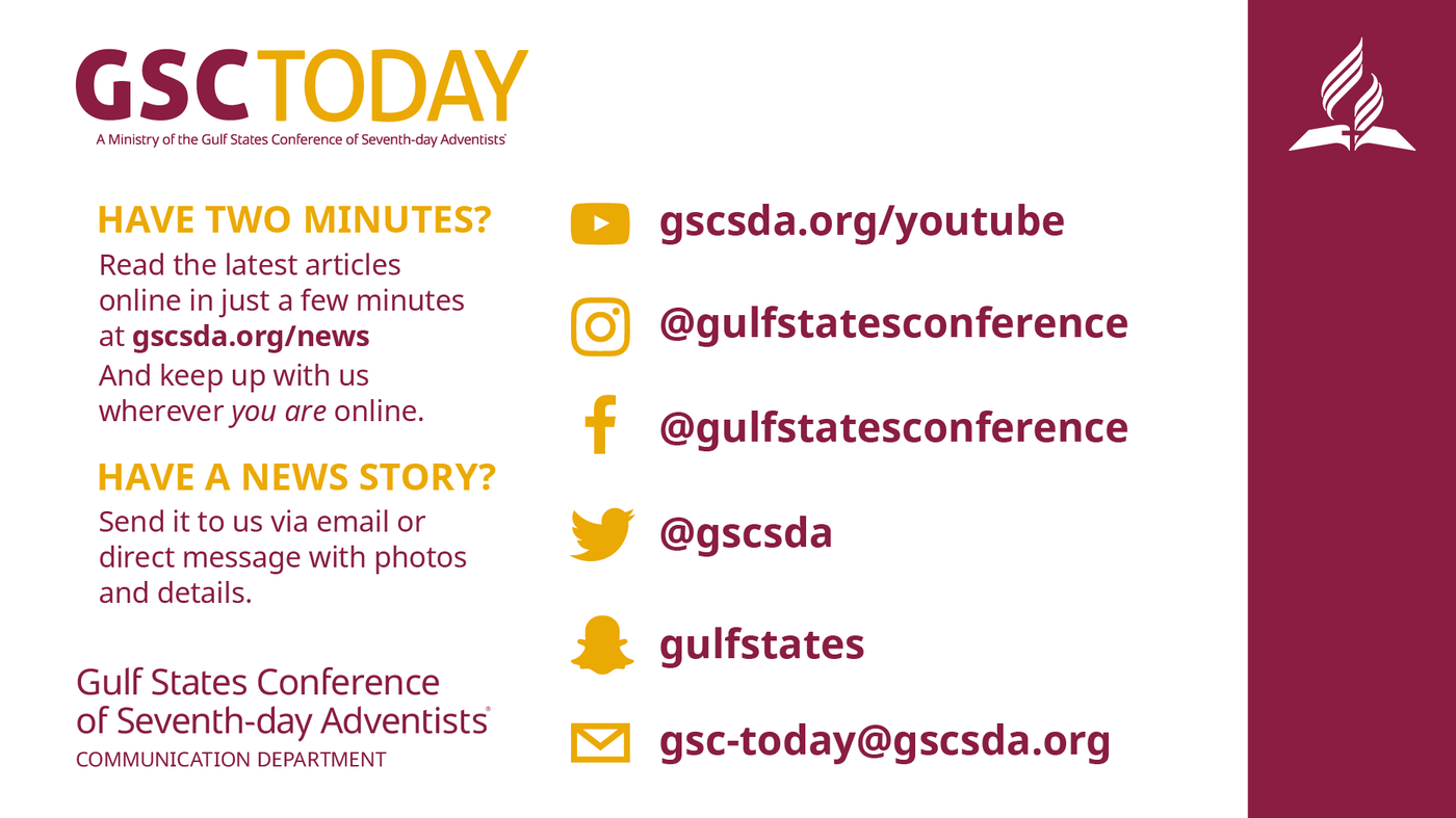 August Update — Gulf States Conference of Seventh-day Adventists