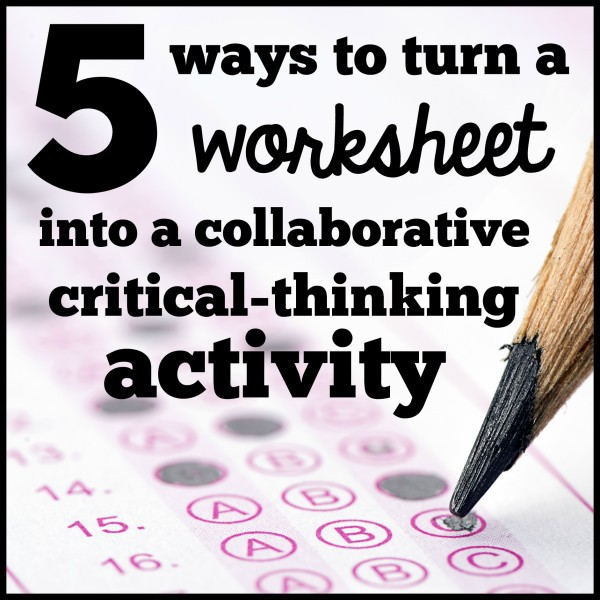 critical thinking activity 5 minutes ideas for quick critical thinking and teamwork activities find this pin and more on creative and critical thinking by reallyrachel love these ideas for quick critical thinking and teamwork activities.