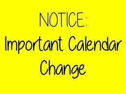 Calendar Adjustments