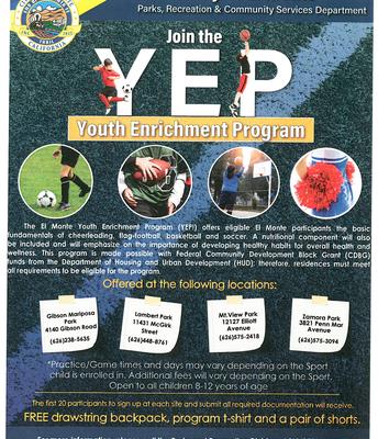 City of El Monte Youth Enrichment Program