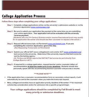 4-Step College Application Process