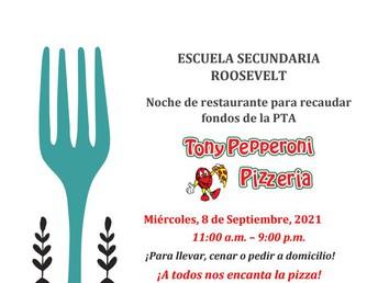 Noche de restaurante para recaudar fondos de la PTA