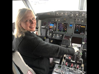 Mrs. Lindsey learning to be a pilot