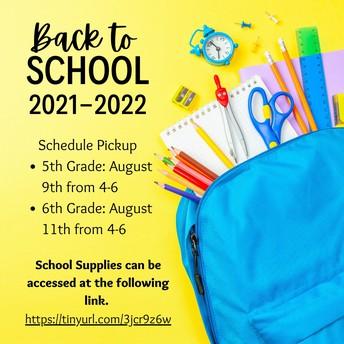 Schedule Pick up & Meet the Teacher