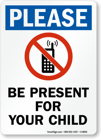 No calling or texting while driving in a school zone/parking lot