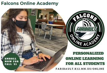 FALCONS ONLINE ACADEMY-Enroll Now for Fall 2021