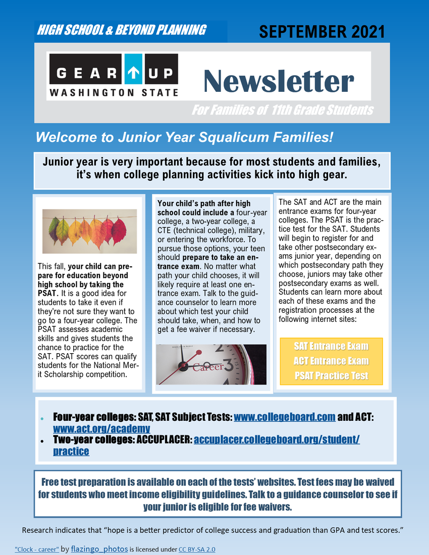 Gear Up newsletter page 1