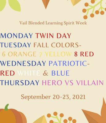 SPIRIT WEEK!  SEPT 20-24