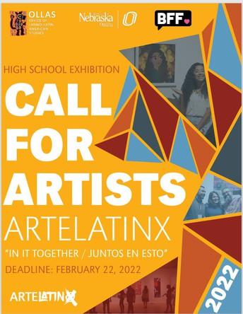 UNO-OLLAS ArteLatinX: Call to High School Students