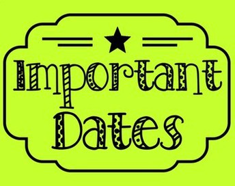 Save the Dates...