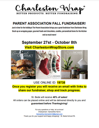 Charleston Wrap Fundraiser Ends on October 8!