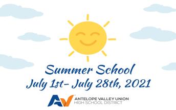 Summer School Begins Thursday, July 1st!