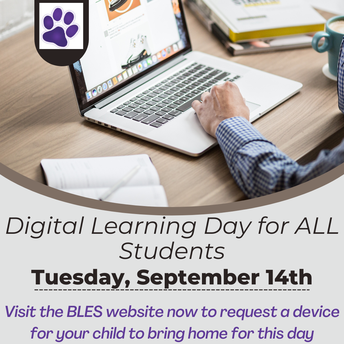 Reminder: 1st Digital Learning Day for All Students Coming Up on Tuesday, September 14th