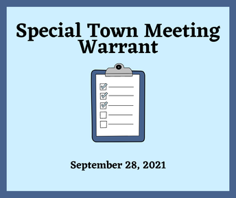 Special Town Meeting Warrant